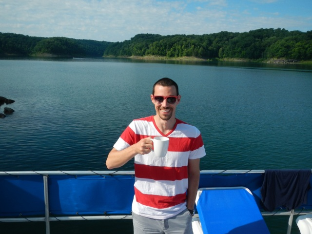 Houseboat Captain with Coffee
