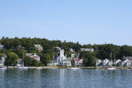 View of the island from the docks.