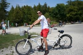 Yes, we rode a tandem bike.