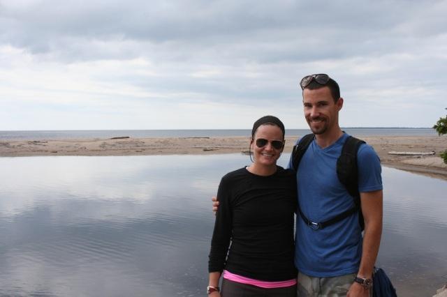Sand River meets Lake Superior.