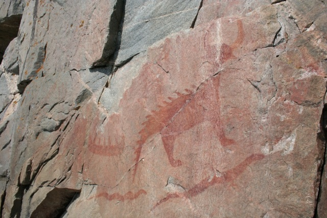 Pictographs from original Native Canadians.
