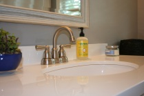 New faucet and counter. So clean!