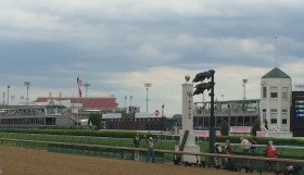 Finish line at the Oaks