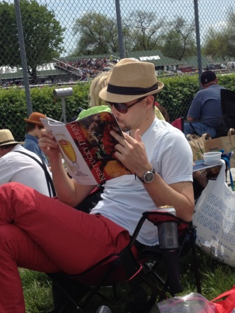 Studying the Derby ponies.
