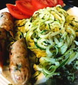 chickensausagepestozoodles